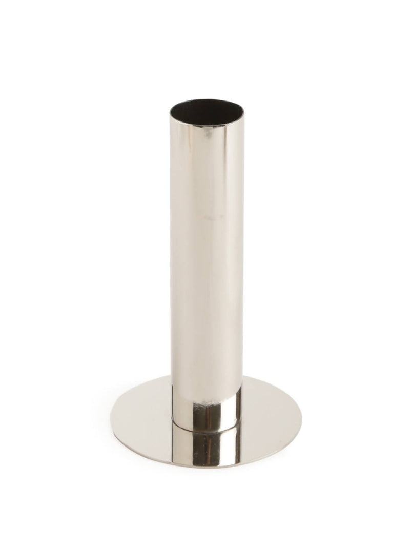 Beautiful Nickle Plated Stainless Steel Bud Vase - L