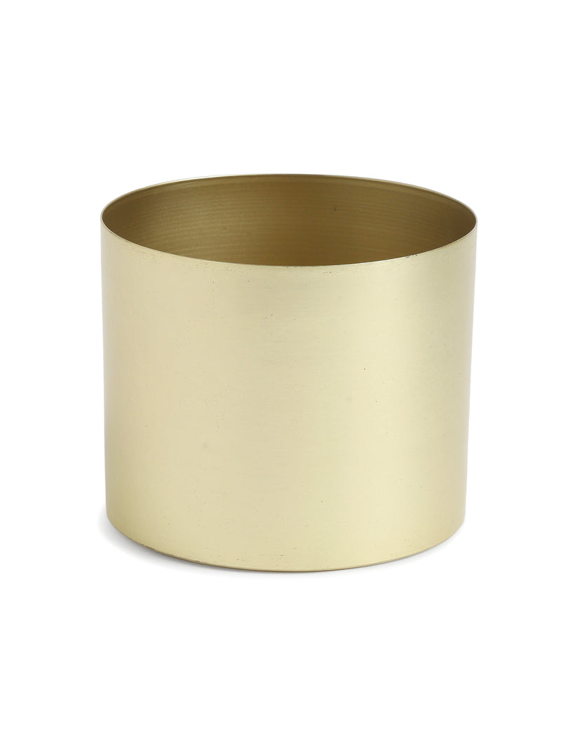 Metal Planter with Brass Look - Sweet Magnoliaa