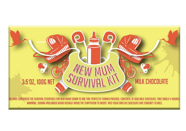 New mum survival kit chocolate - indoor plant gift bundle | Garner Plant Delivery