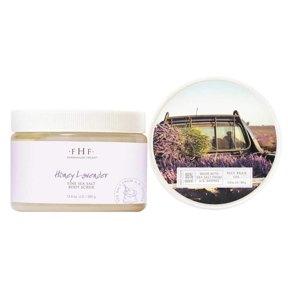 Honey Lavender Fine Sea Salt Scrub