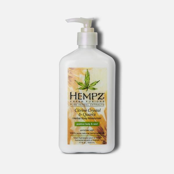 Load image into Gallery viewer, Hempz Fresh Fusions Citrine Crystal & Quartz Herbal Body Moisturizer