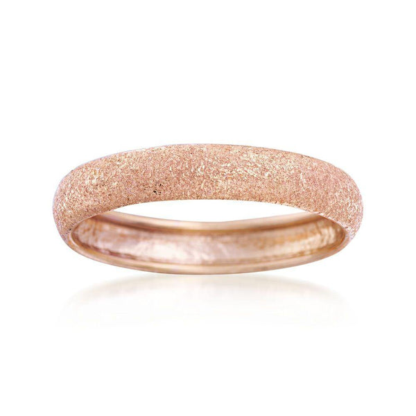 14K ROSEGOLD FROSTED RING