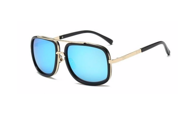 ROSEGOLD GOLD SQAURE SUNGLASSES - TEAL