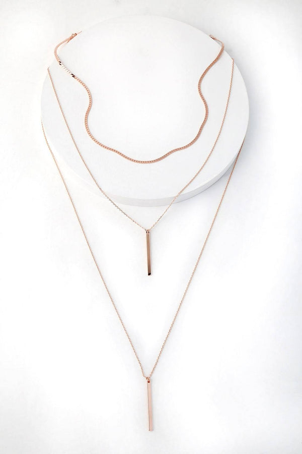ROSEGOLD LAYERED CHOKER NECKLACE