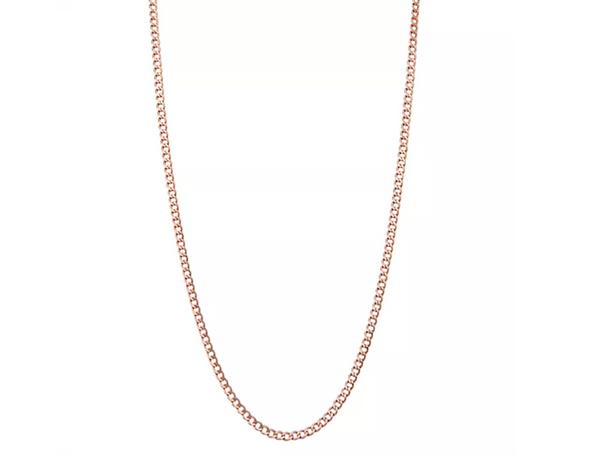 14K ROSE GOLD CURB CHAIN NECKLACE