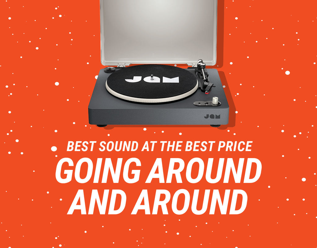 Best sound at the best price going around and around - Jam Spun Out Turntable