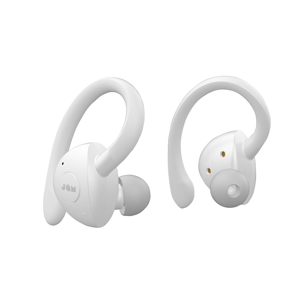 Jam Audio TWS Sport Truly Wireless Earbuds White front view