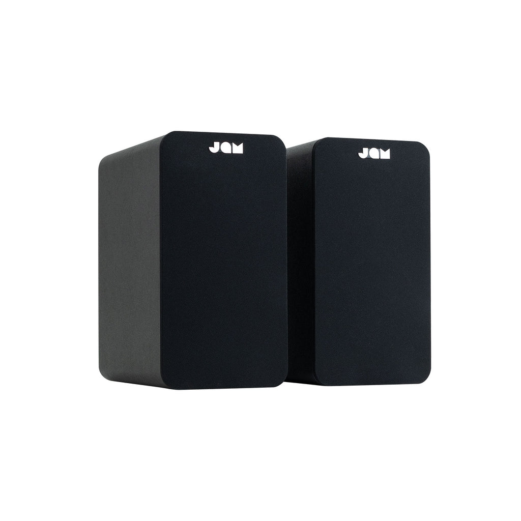 Jam Audio Bookshelf Bluetooth Speakers 3/4 angle