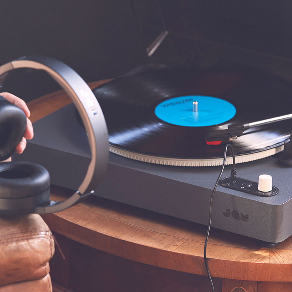 Jam Audio Spun Out Vinyl Turntable with headphones