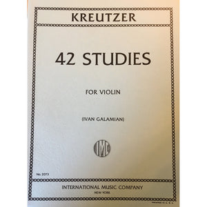 Kreutzer 42 Studies for Violin - davidsonviolins.com