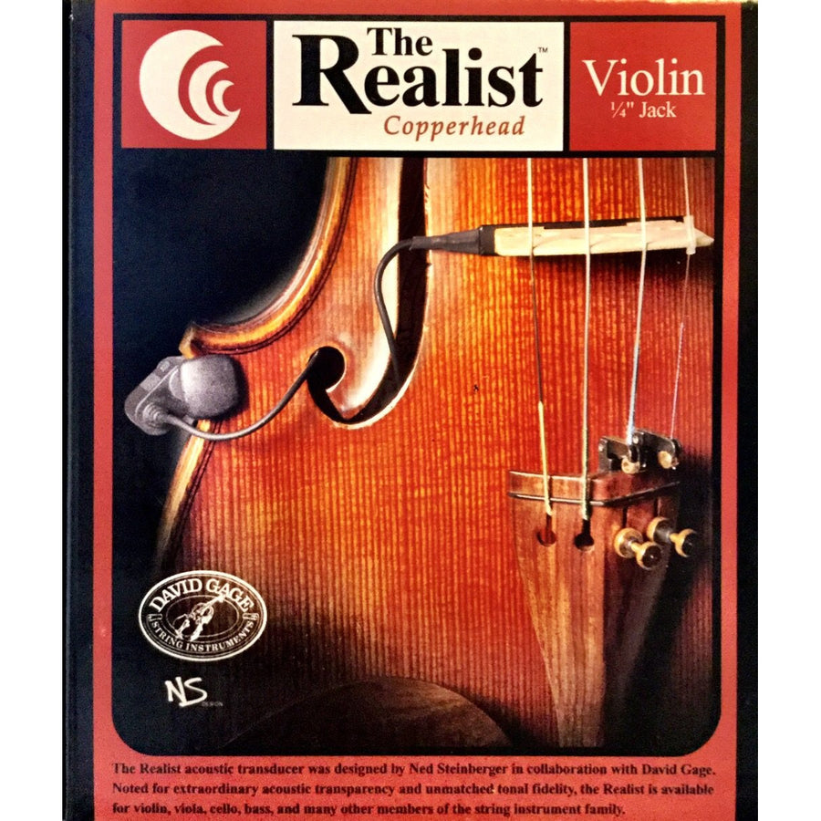 Realist Copperhead Violin pickup with 1/4 input