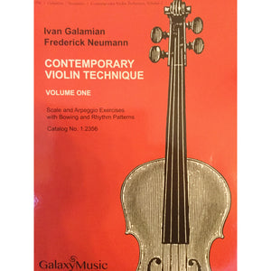 Ivan Galamian Contemporary Violin Technique vol. 1 - davidsonviolins.com