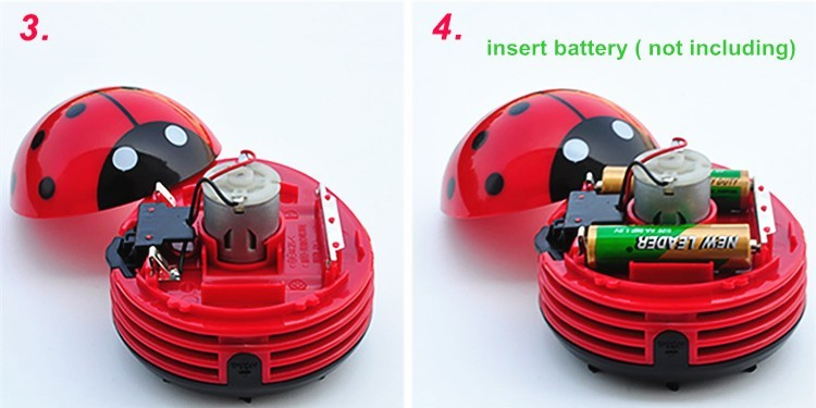 Mini Ladybug Vacuum Desktop Cleaner