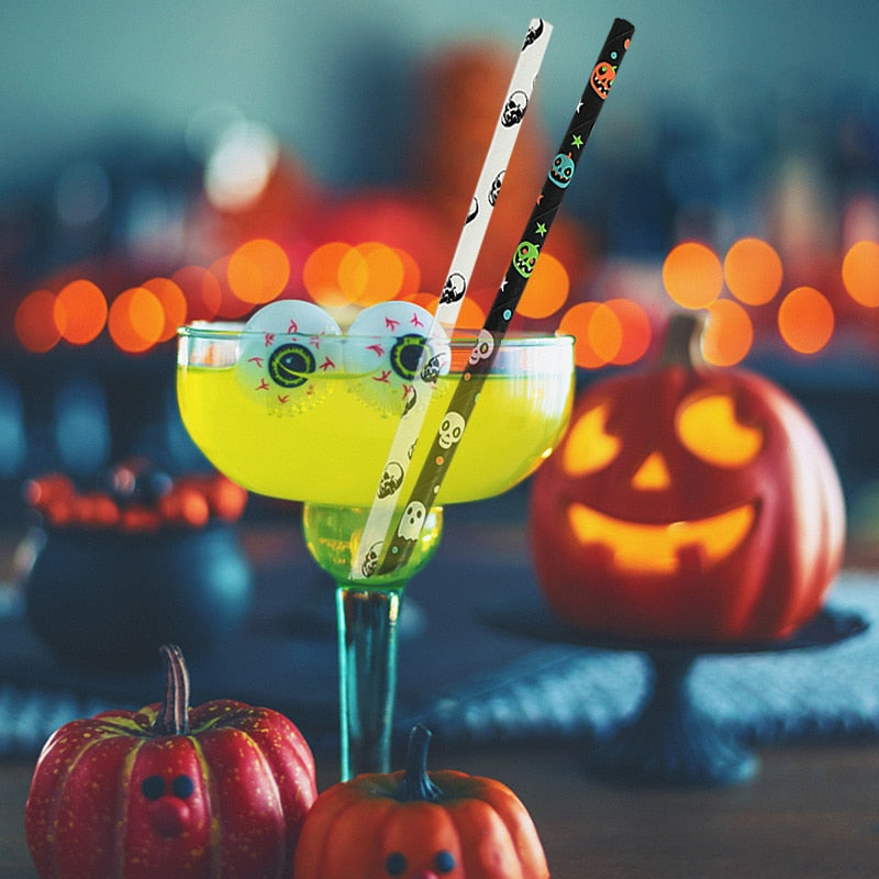 Sippin' Halloween Straws