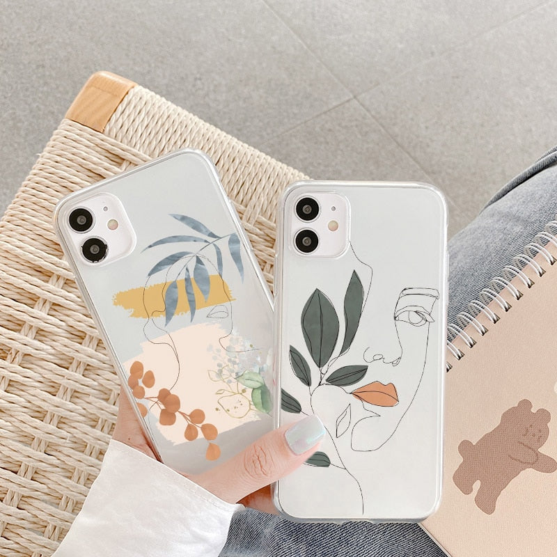 Mystic Line Art Phone Cases