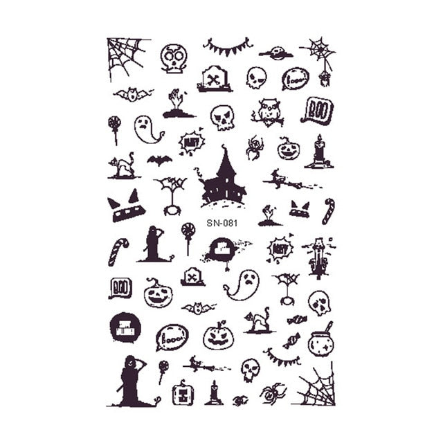 OMG Halloween Nail Stickers