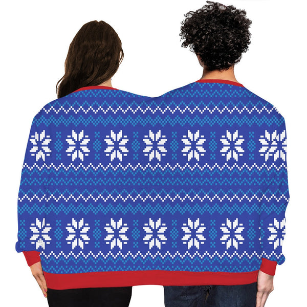 Couples Unisex Novelty Christmas Siamese Knitted Sweaters