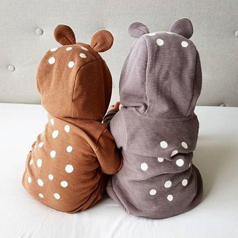 Baby Boy & Girl Infant Deer 3D Ear Bodysuit Romper Jumpsuit