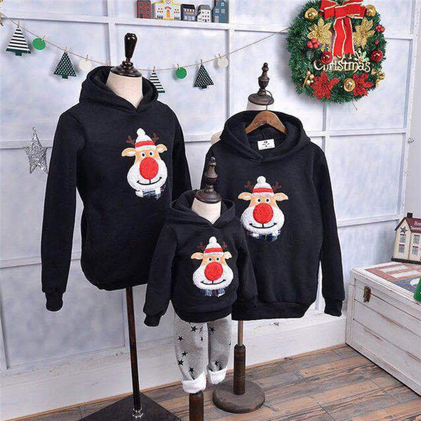 Christmas Family Matching Hoodie Pullover Sweatshirt Jumper