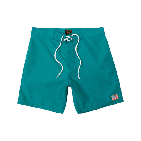 color: Teal ~ alt: Half Hitch Boardshort