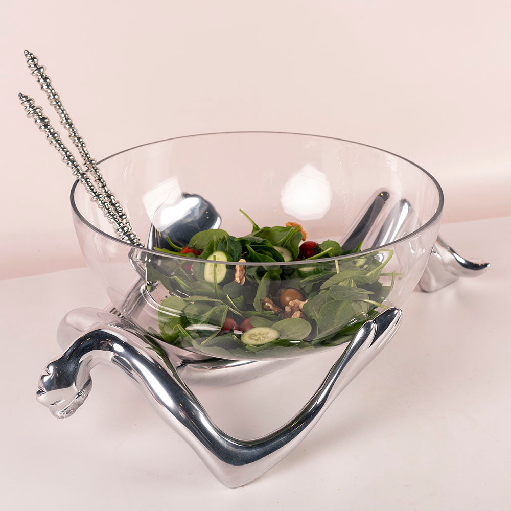 Carrol Boyes Glass Bowl & Stand