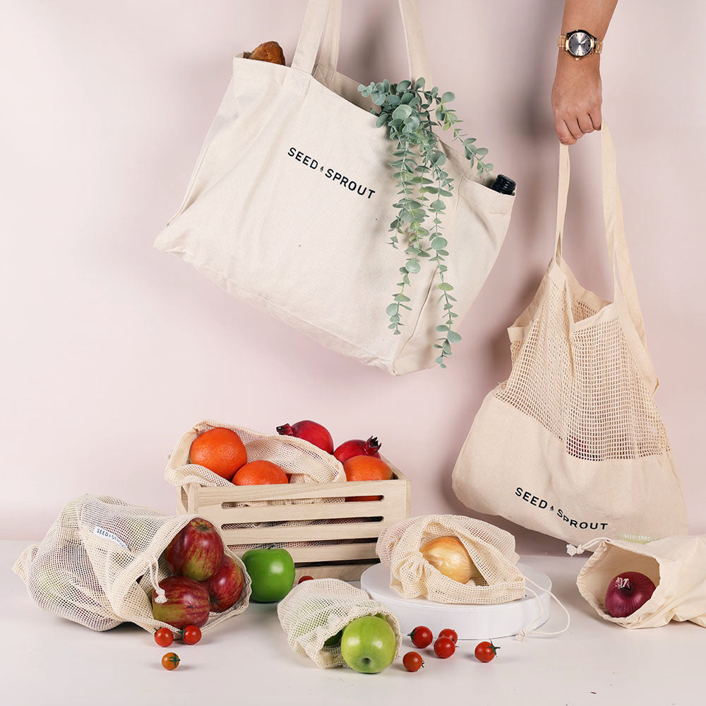 Seed & Sprout Organic Mesh Produce Bags