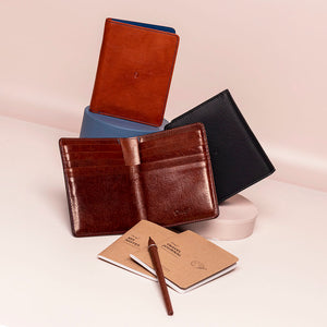 Danny P Leather Passport Wallet