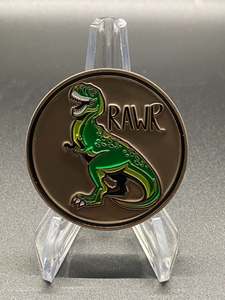 Jurassic Park Coin - Rawr! Means I love You in Dinosaur!