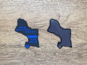 Back The Blue PVC Magnet (Thin Blue Line)