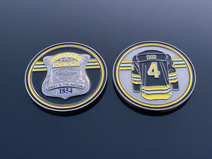 Bobby Orr Hockey Boston Police Badge Coin