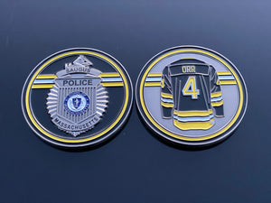 Bobby Orr Hockey Saugus PD Badge Coin