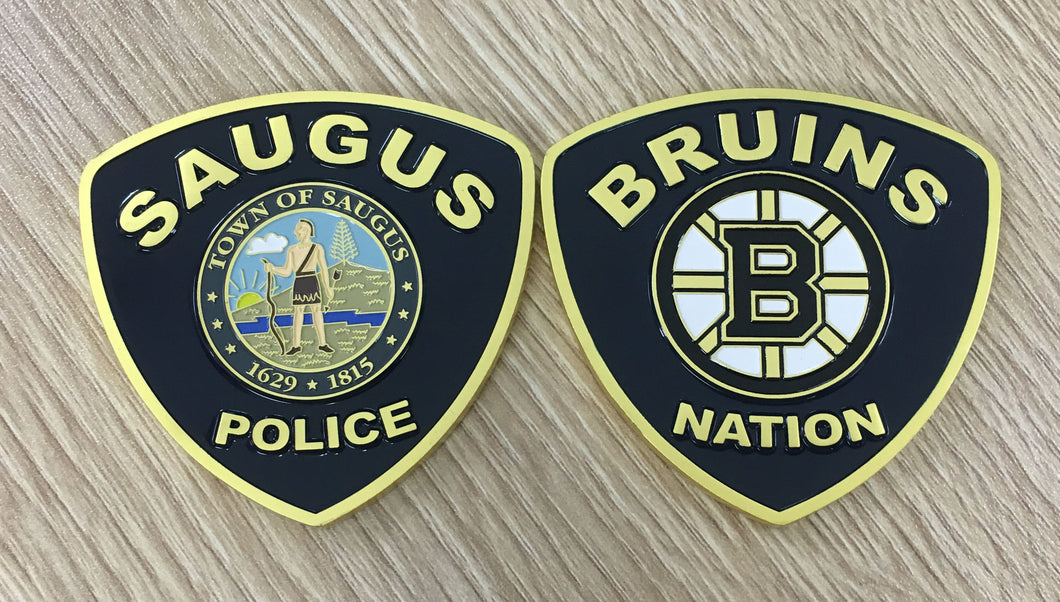 Boston Hockey Bruins Inspired Patch Coin