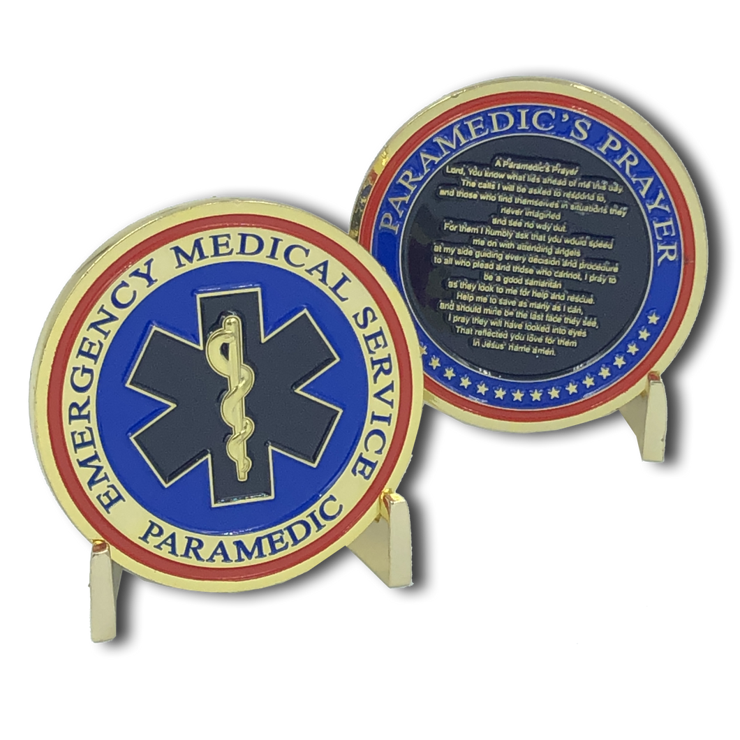 EMS Paramedic Prayer Coin