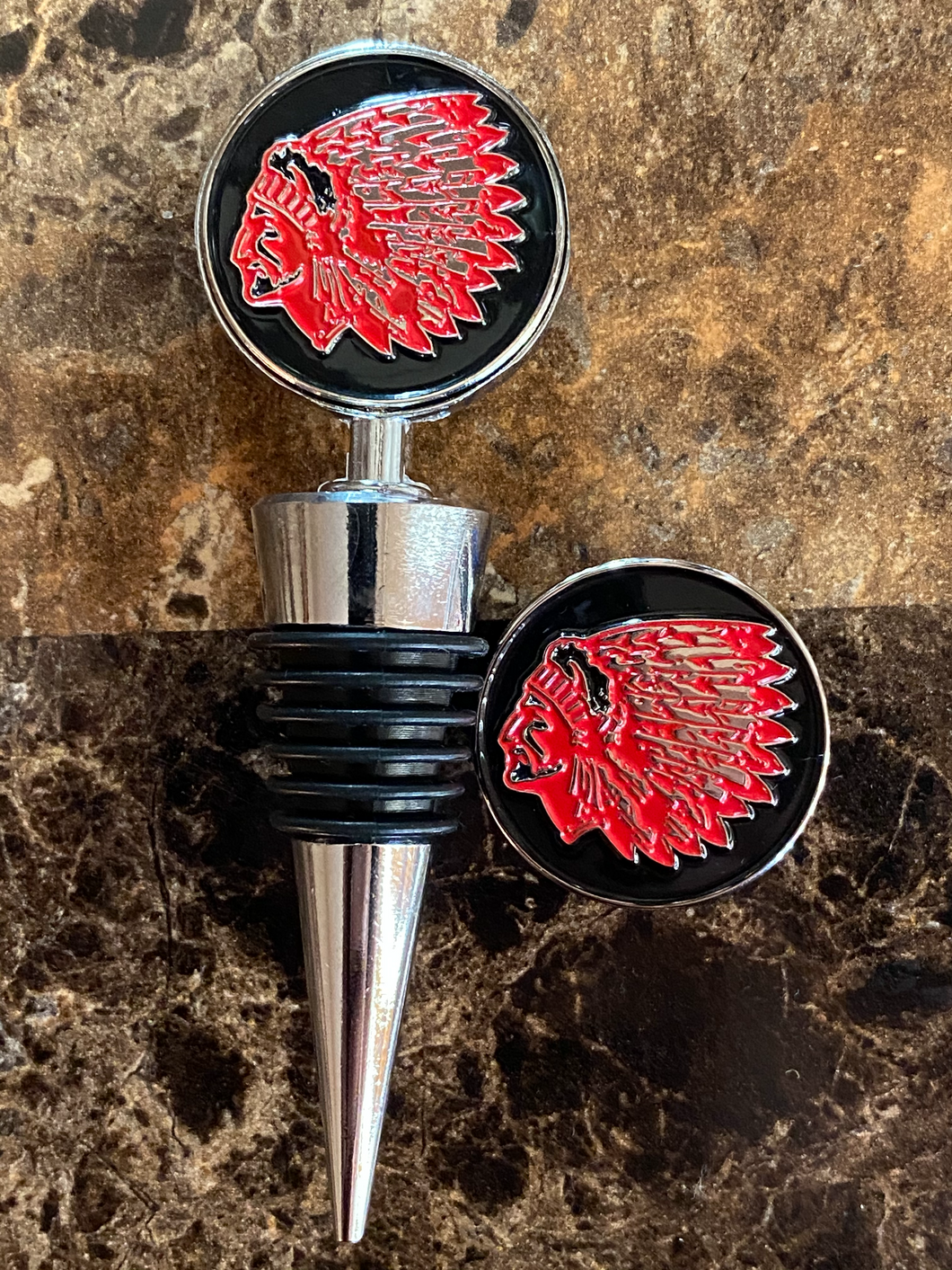 Saugus Sachems Wine Stopper and Pin