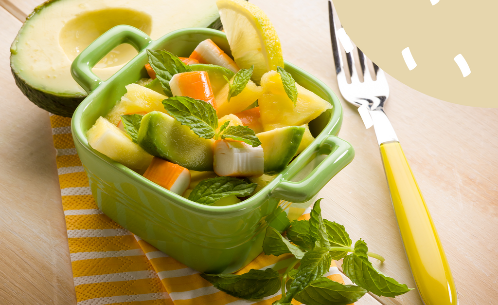 Avocado, Pineapple and Passion Fruit Salad Recipe