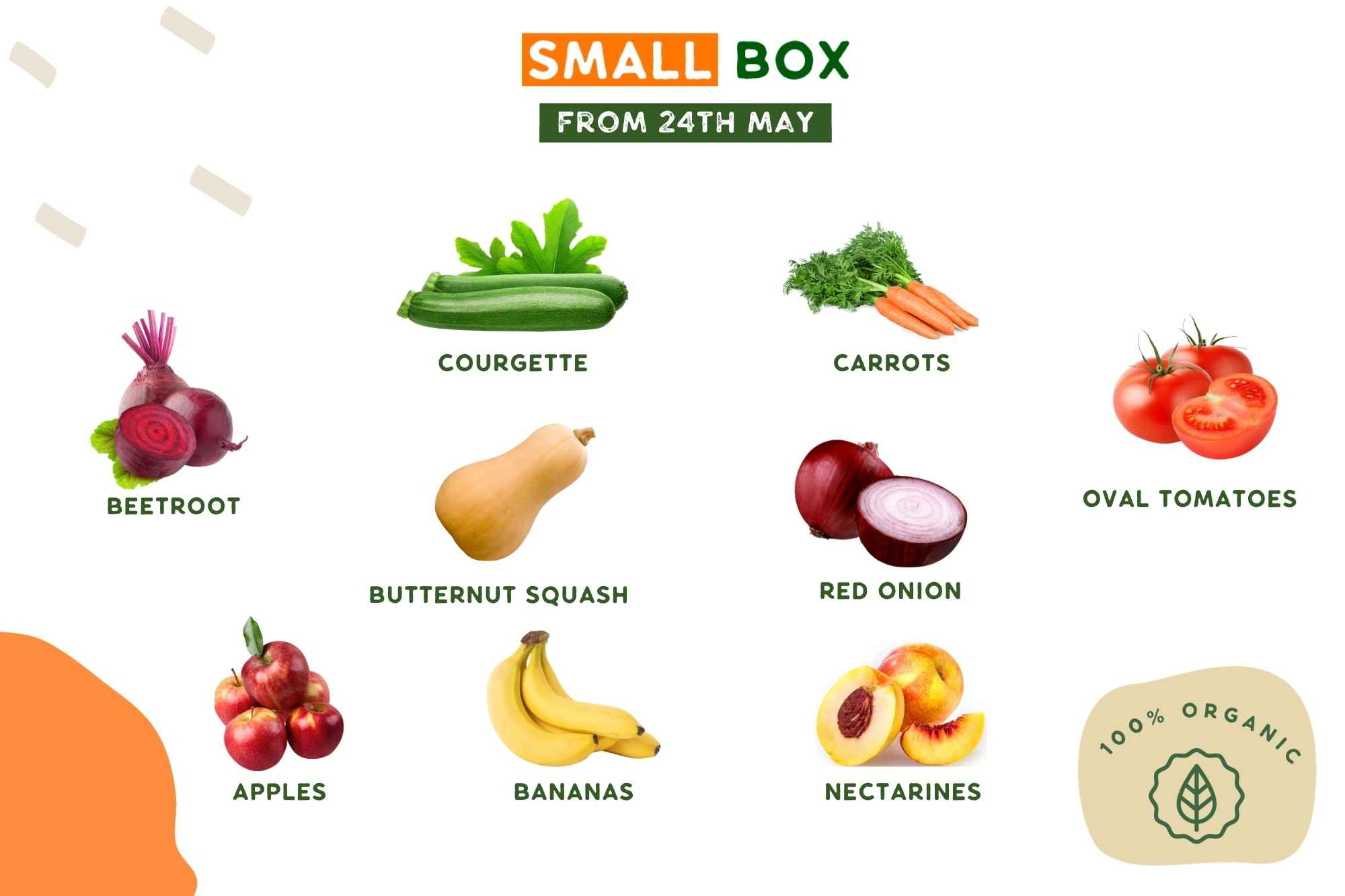 Organic Veg and Fruit Box
