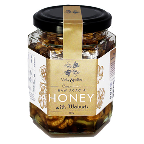 Raw Acacia Honey with Walnuts