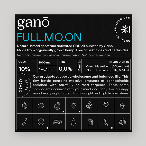Ganō 10% CBD OIL FULLMOON 10ML