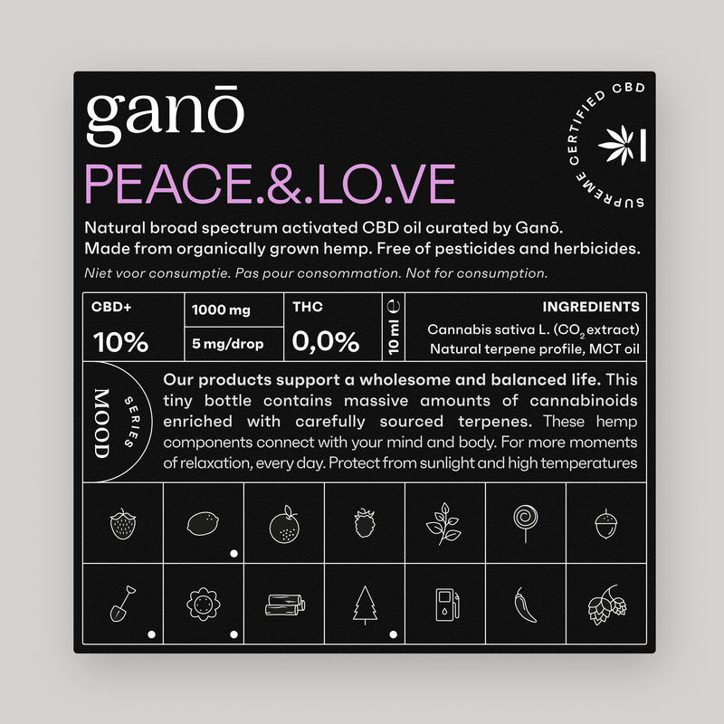Ganō 10% CBD OIL PEACE & LOVE 10ML