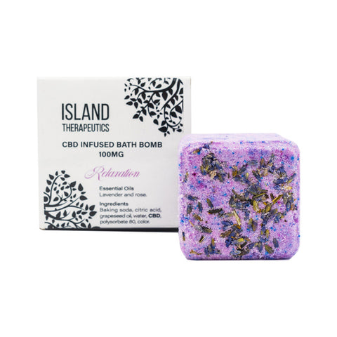 Island Therapeutics – CBD Relaxation Bath Bomb (100mg CBD)