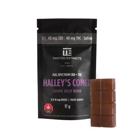 Jelly Bomb Halley's Comet Grape 1:1 CBD/Sativa