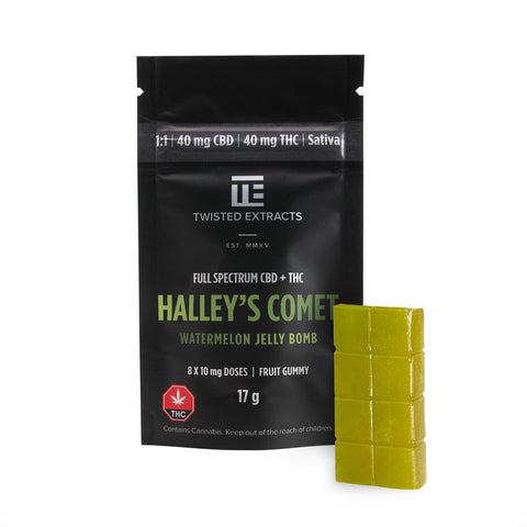 Jelly Bomb Halley's Comet Watermelon 1:1 CBD/Sativa