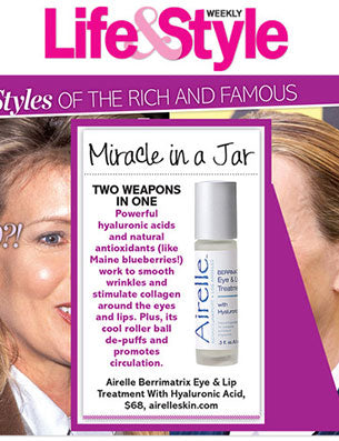 Life & Style Magazine features Airelle Skincare's Age Defying Eye + Lip Treatment