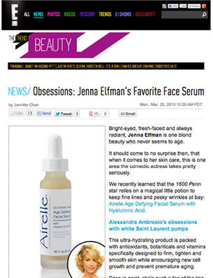 Jenna Elfman loves Airelle's Age Defying Facial Serum