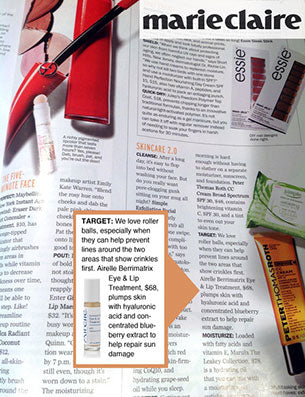 Airelle's Eye + Lip Treatment in Marie Claire Magazine