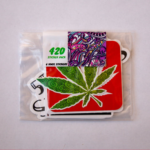 420 Vinyl Sticker Pack (6)