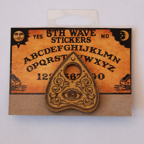 Planchette Wooden Hat Pin
