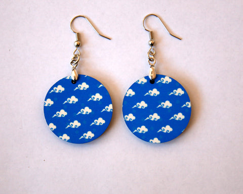 Blue Sky/Clouds Women's Earrings