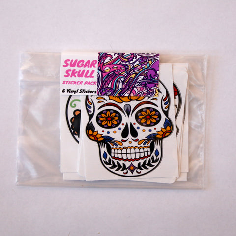 Sugar Skull Vinyl Sticker Pack (6)