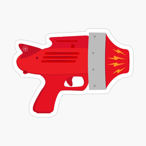 Red Raygun Sticker